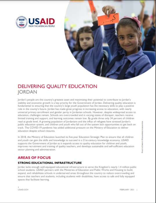 Fact Sheet: Delivering Quality Education