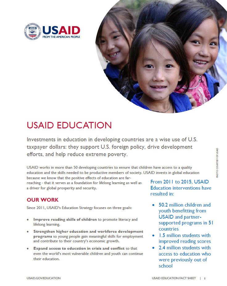 USAID Education Fact Sheet