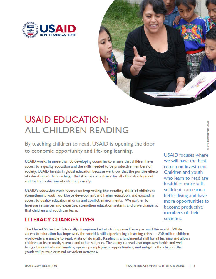 USAID Education: All Children Reading Fact Sheet