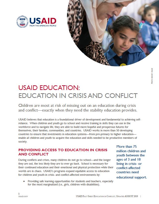 USAID Education: Education in Crisis and Conflict