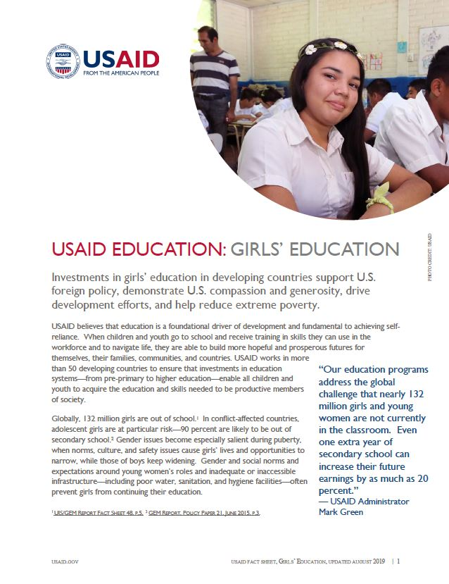 USAID Education: Girl's Education