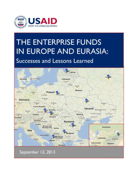 The Enterprise Funds In Europe and Eurasia: Successes and Lessons Learned