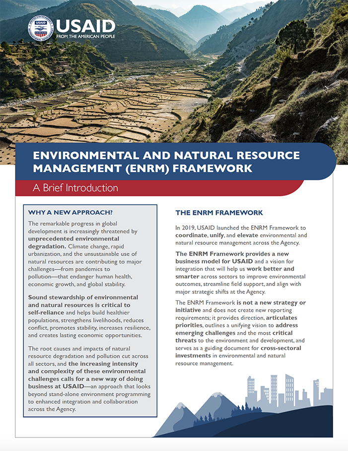 Environmental and Natural Resources Management(ENRM) Framework Summary