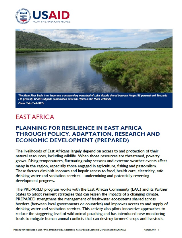 Planning for Resilience in East Africa through Policy, Adaptation, Research and Economic Development (PREPARED) Fact Sheet