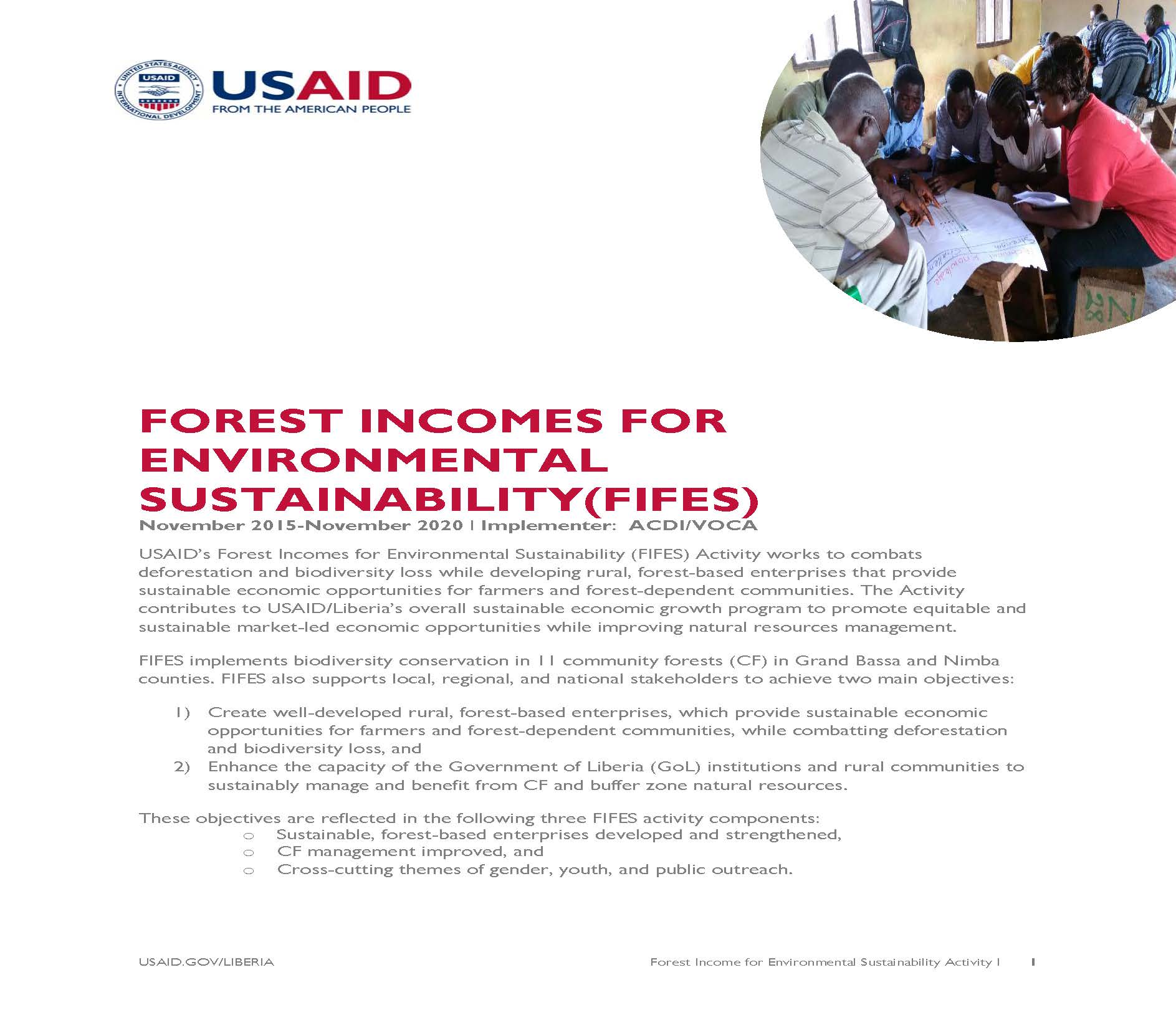Forest Incomes for Environmental Sustainability Activity