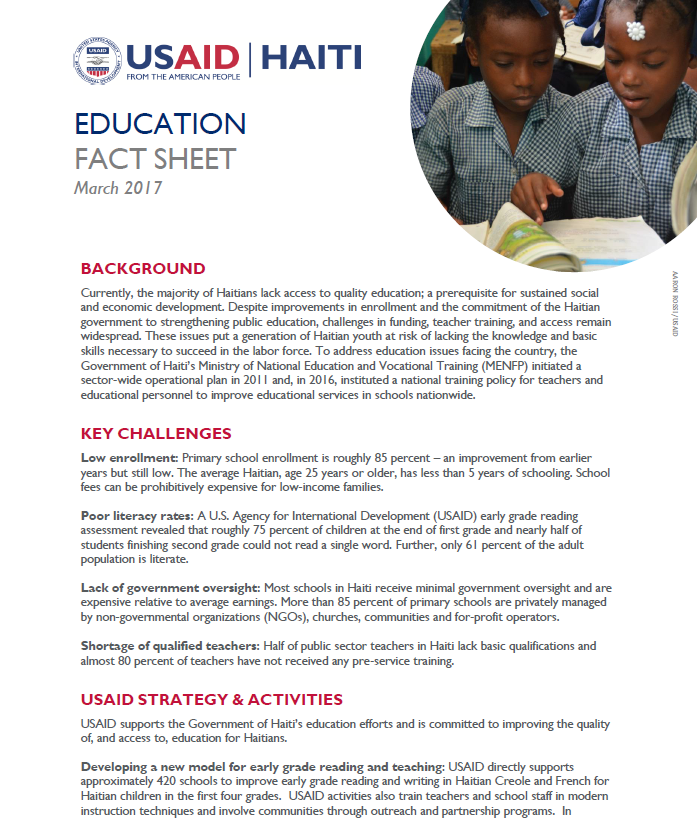 Education Fact Sheet (2017)