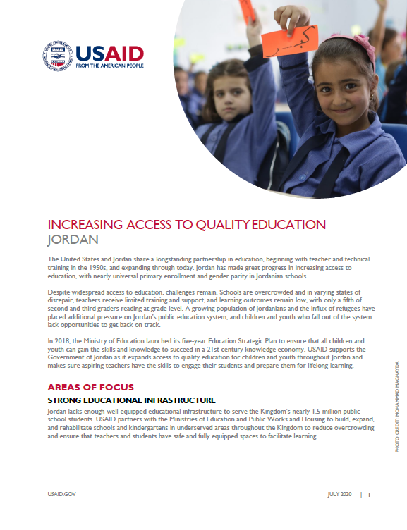 Increasing Access to Quality Education Fact Sheet