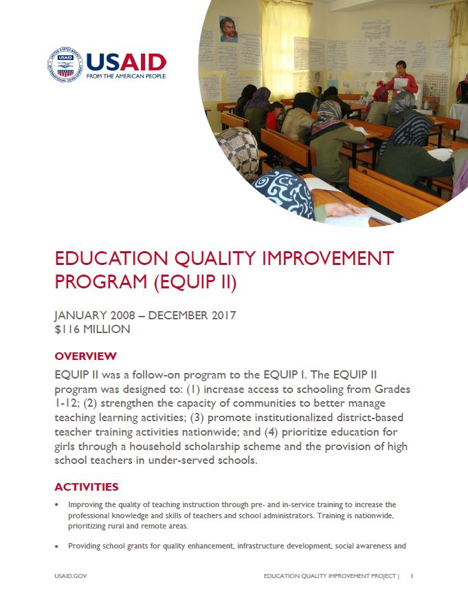 Education Quality Improvement Program (EQUIP II)