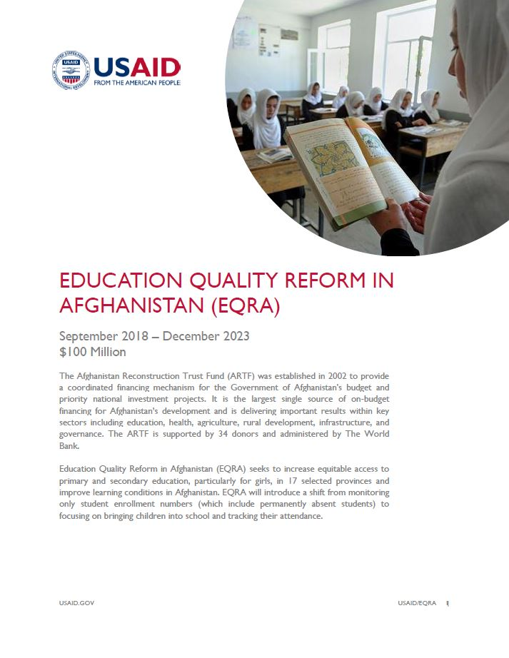 Education Quality Reform in Afghanistan (EQRA)
