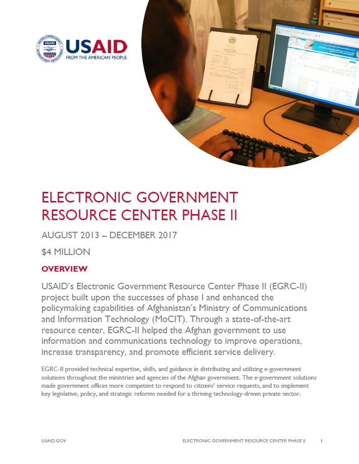 Electronic Government Resource Center Phase II