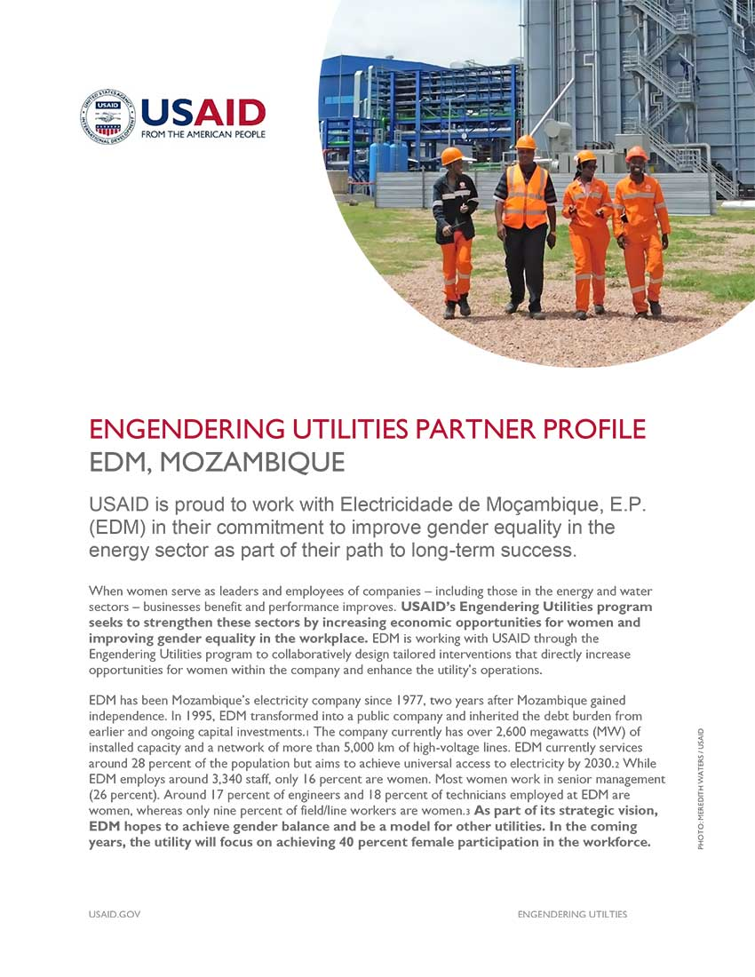 Engendering Utilities Partner Profile: EDM, Mozambique