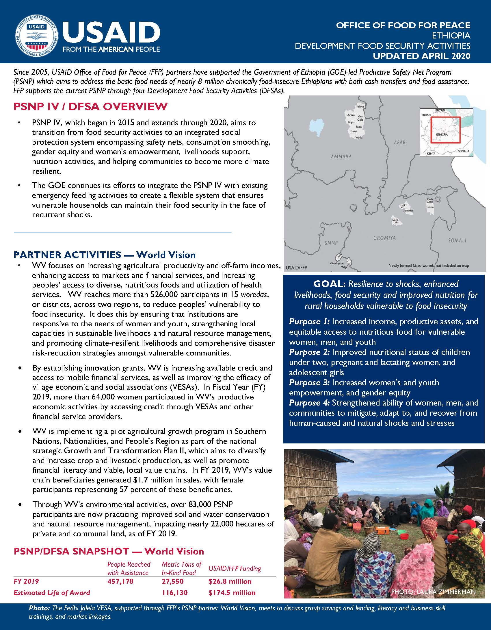 FY 2019 Ethiopia DFSA Fact Sheet - World Vision