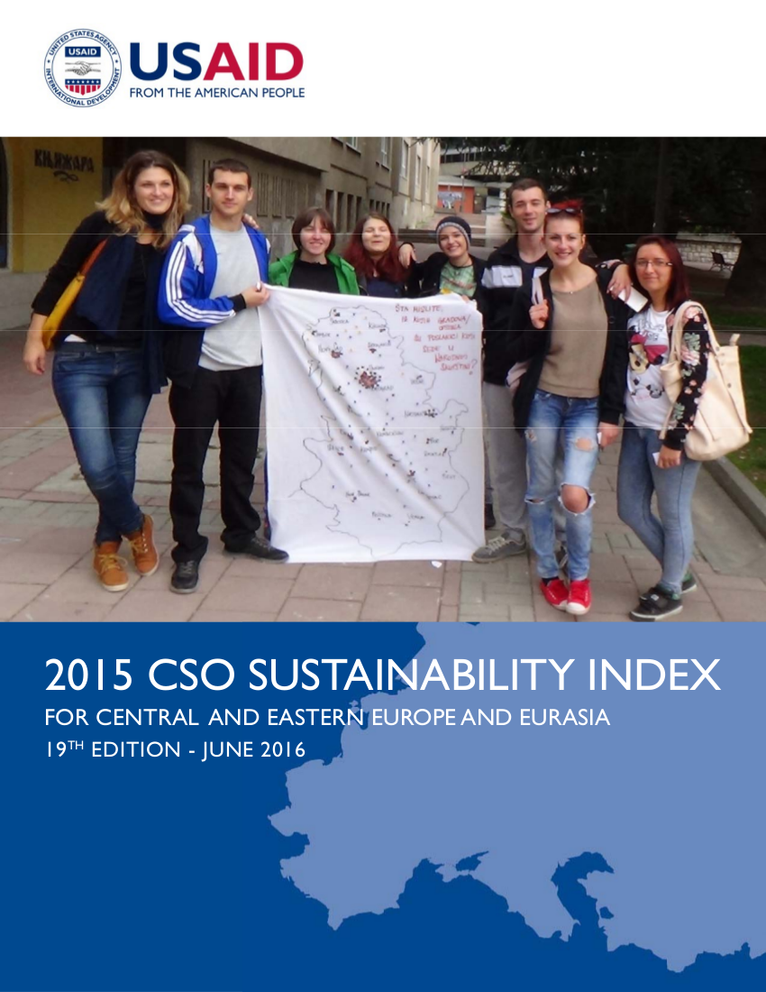 2015 Civil Society Organization (CSO) Sustainability Index for Central and Eastern Europe and Eurasia