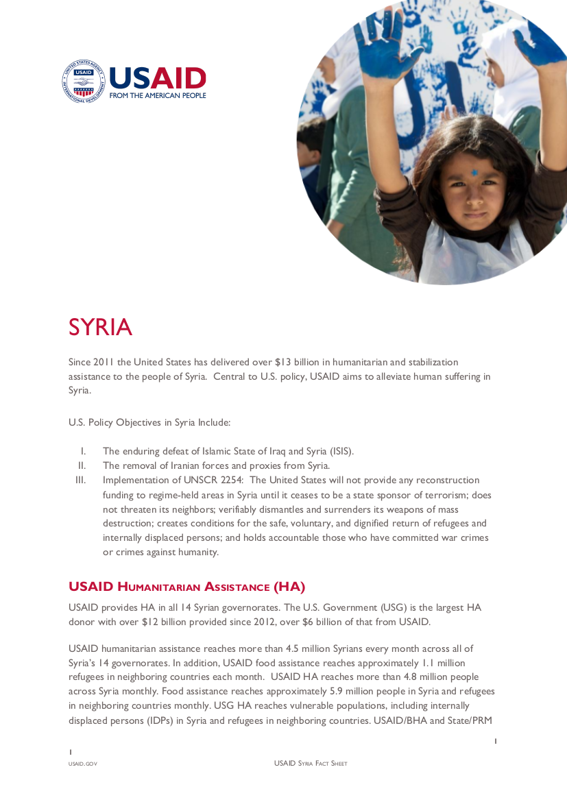 Syria Fact Sheet