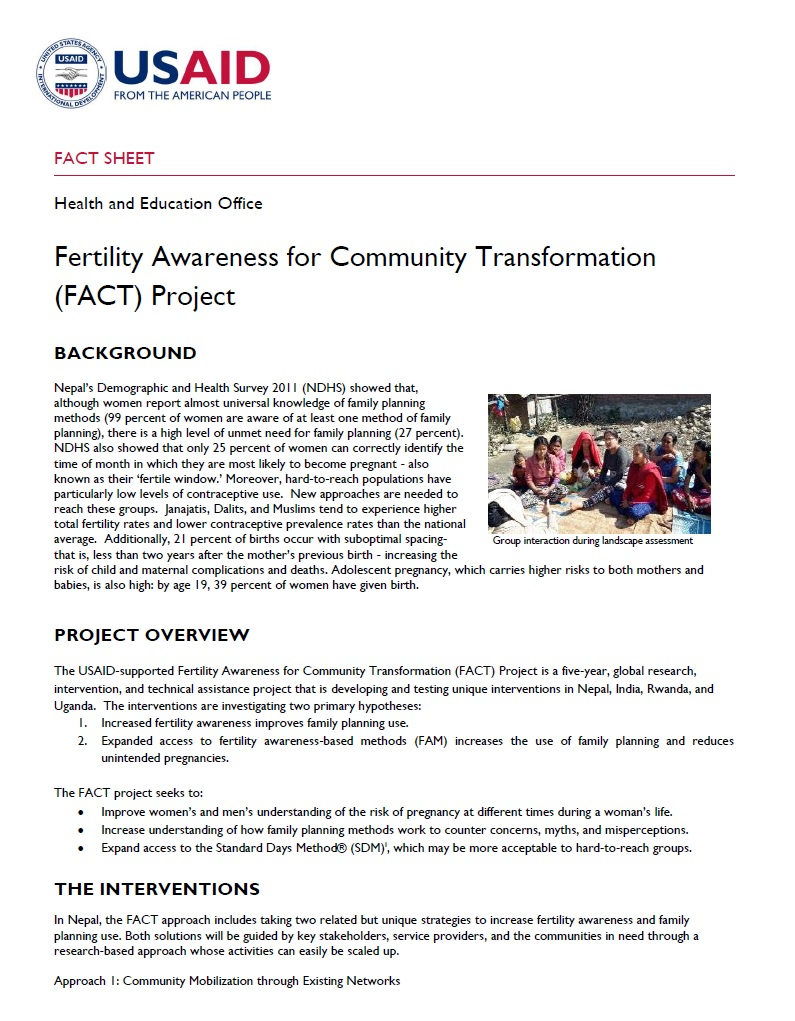 Fertility Awareness for Community Transformation (FACT) Project
