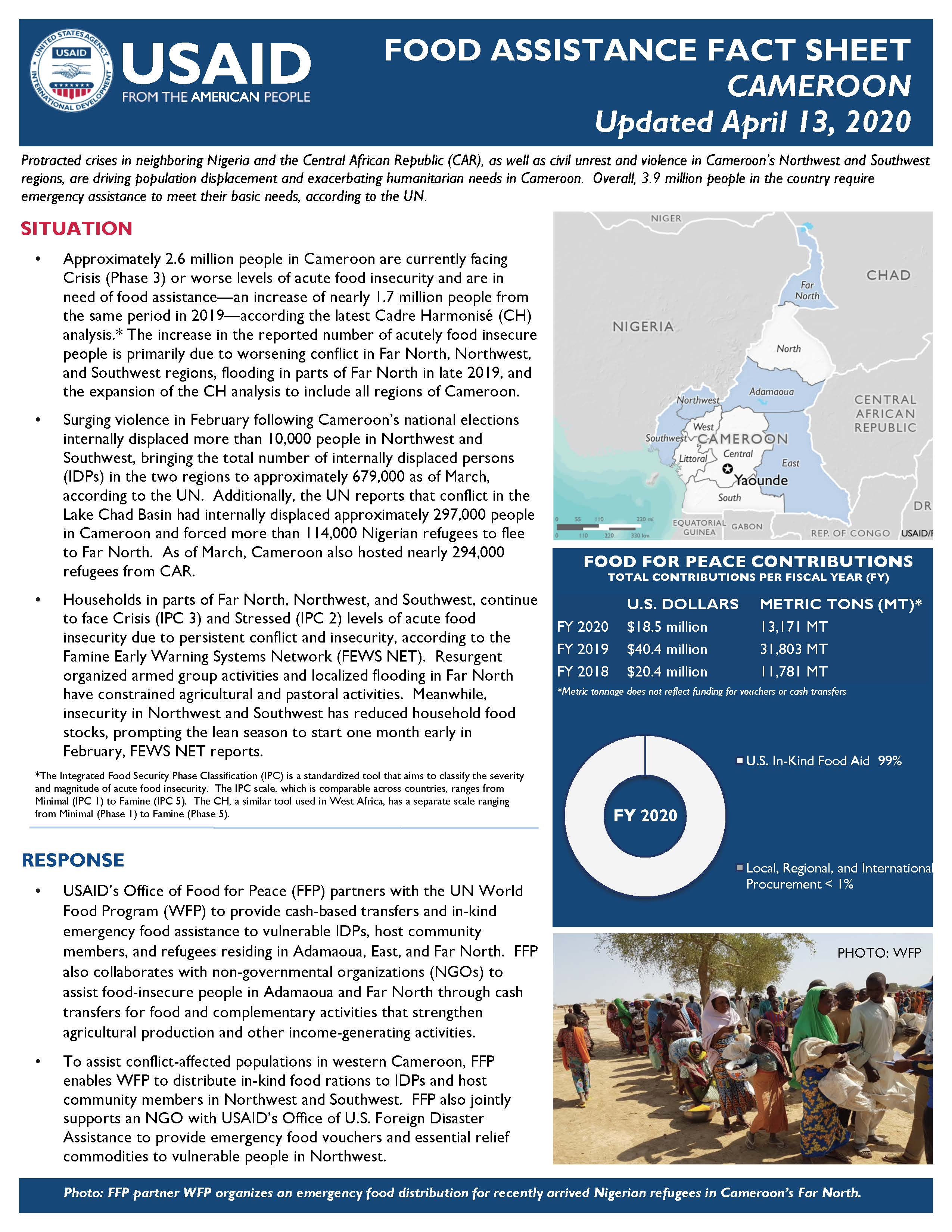 Food Assistance Fact Sheet - Cameroon