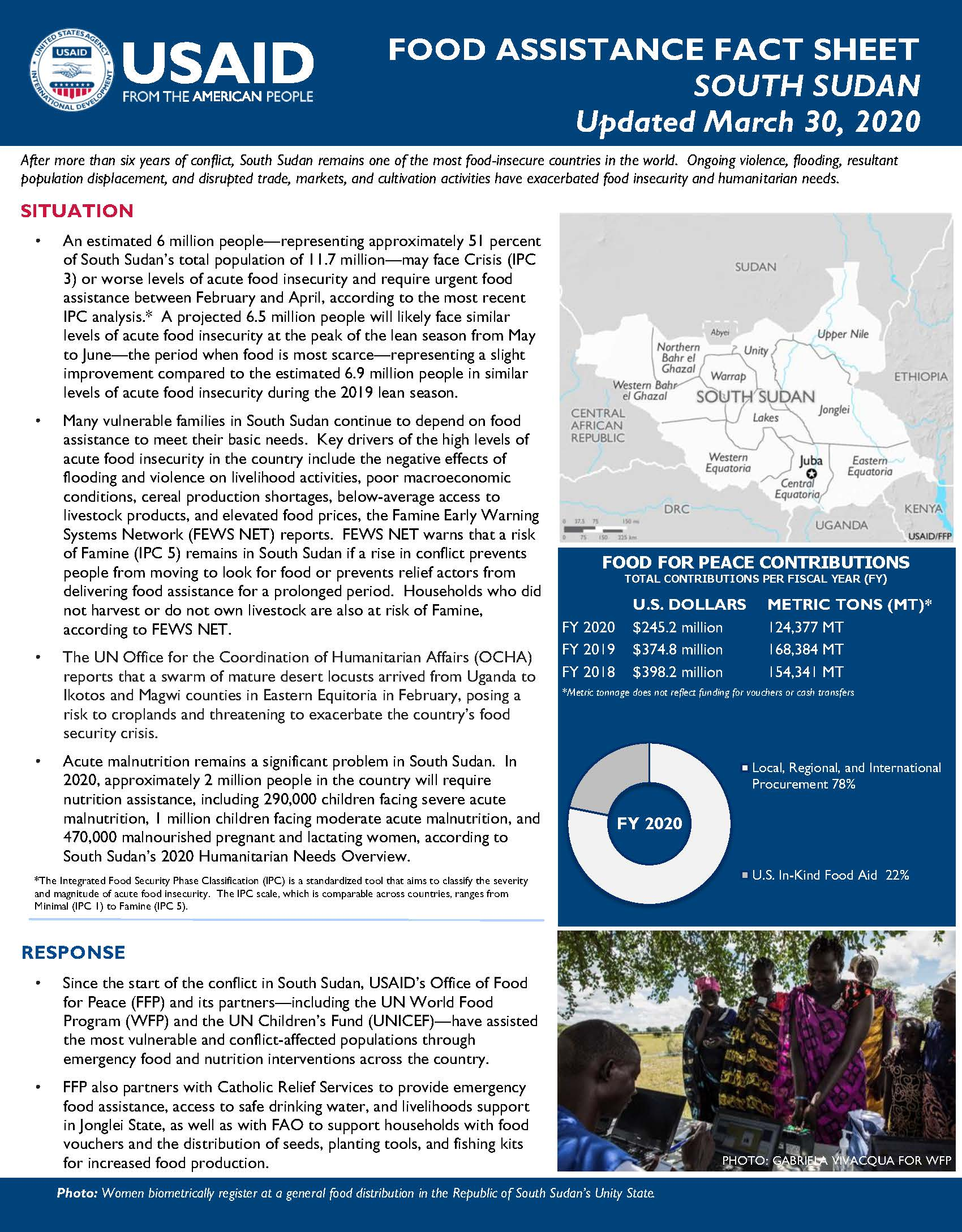 Food Assistance Fact Sheet - South Sudan