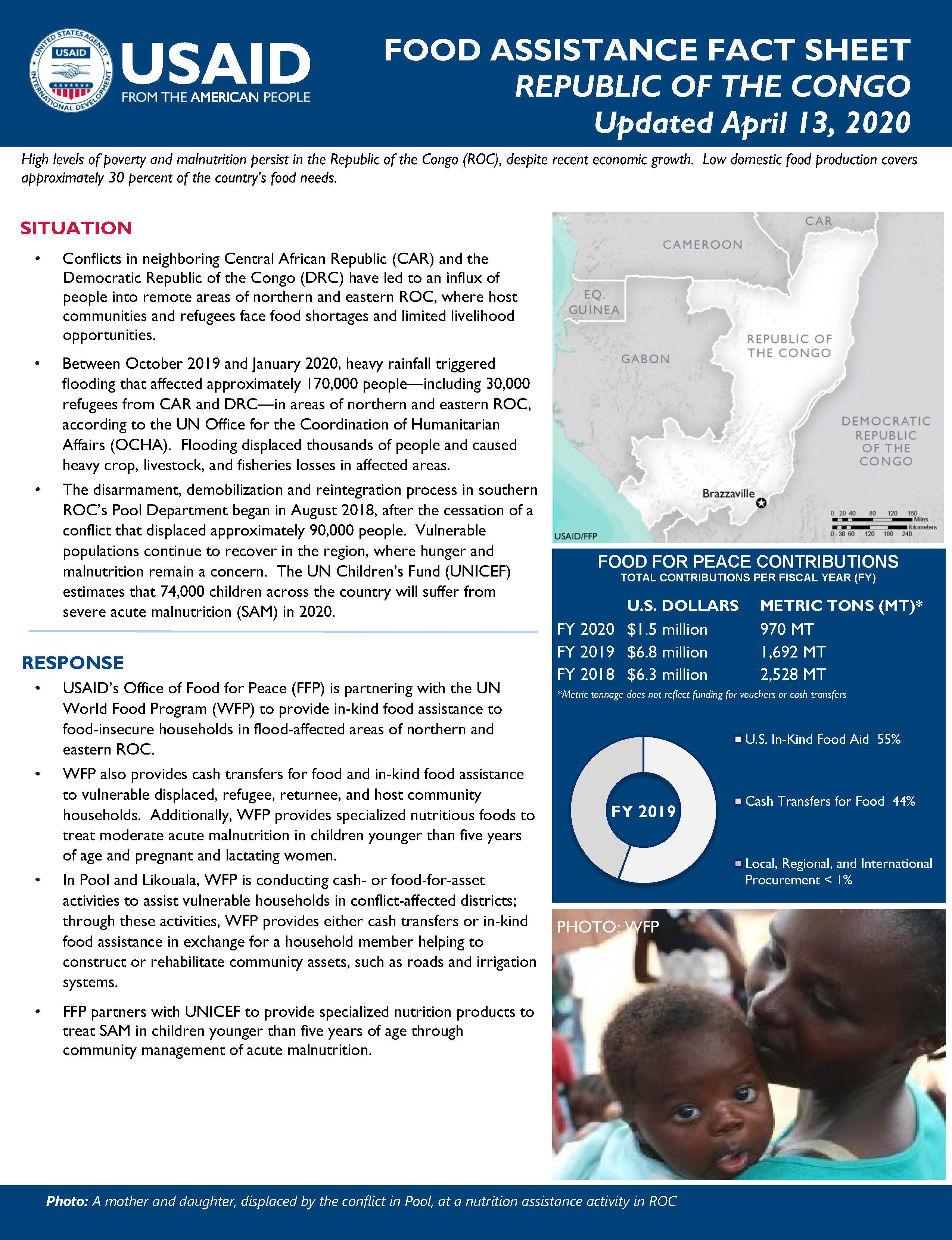 Food Assistance Fact Sheet - Republic of the Congo