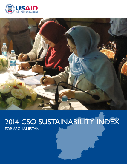 2014 CSO Sustainability Index (CSOSI) for Afghanistan