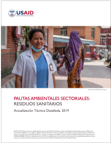 Sector Environmental Guideline: Healthcare Waste (2019) - Spanish