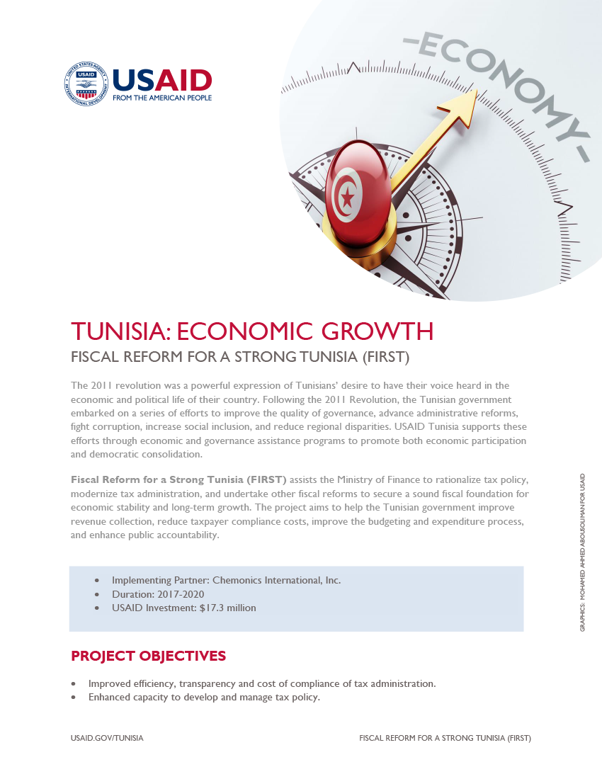 Fiscal Reform for a Strong Tunisia (FIRST) Fact Sheet - Click to download PDF
