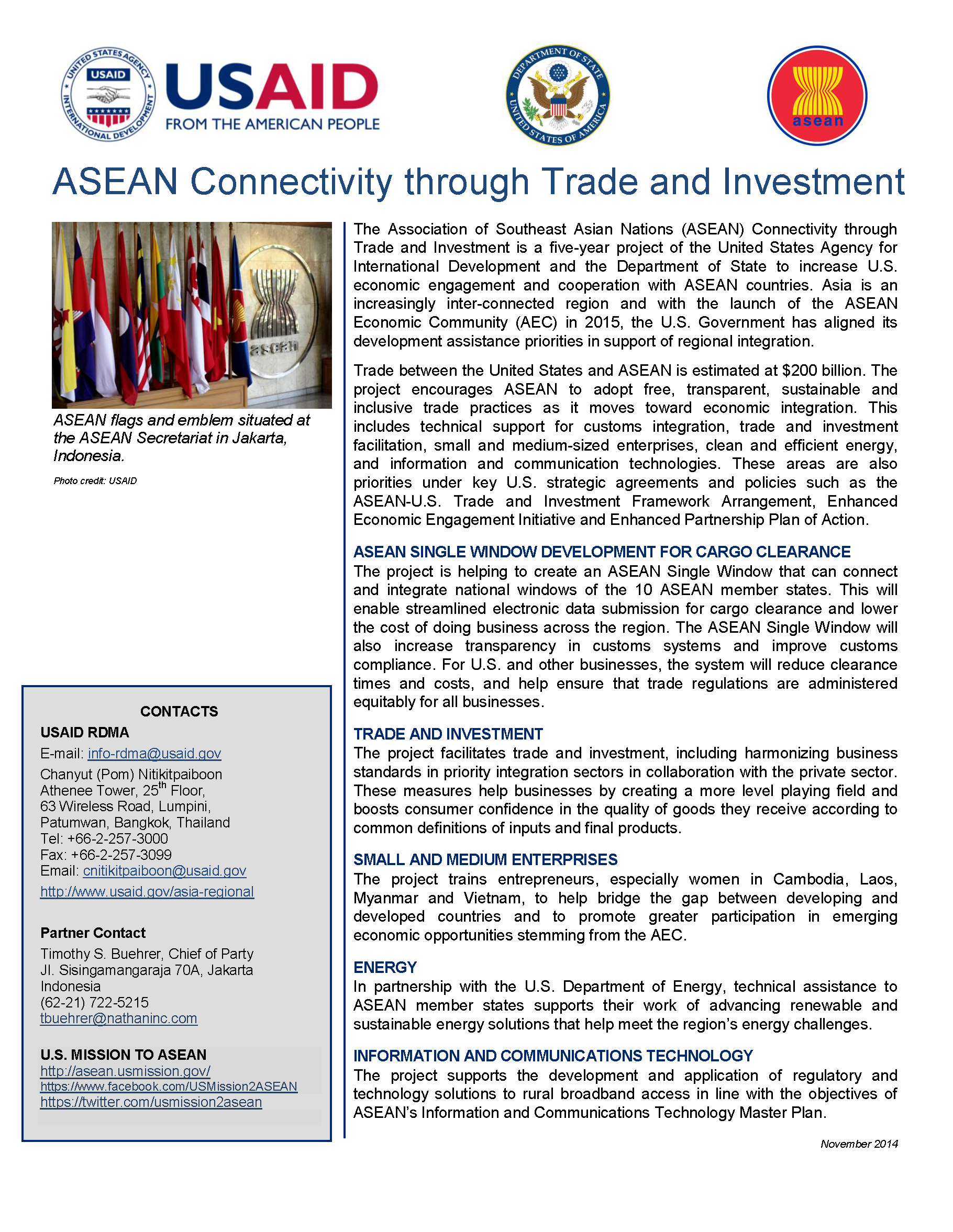 ASEAN Connectivity through Trade and Investment