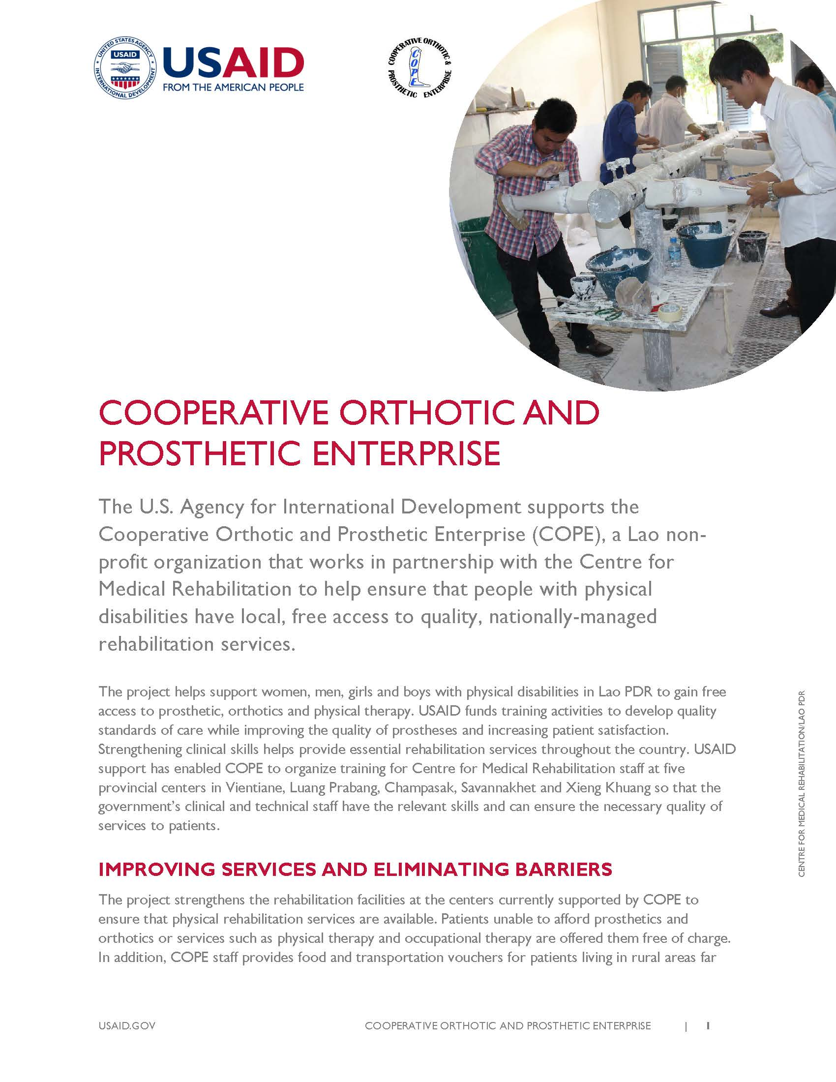 Cooperative Orthotic and Prosthetic Enterprise