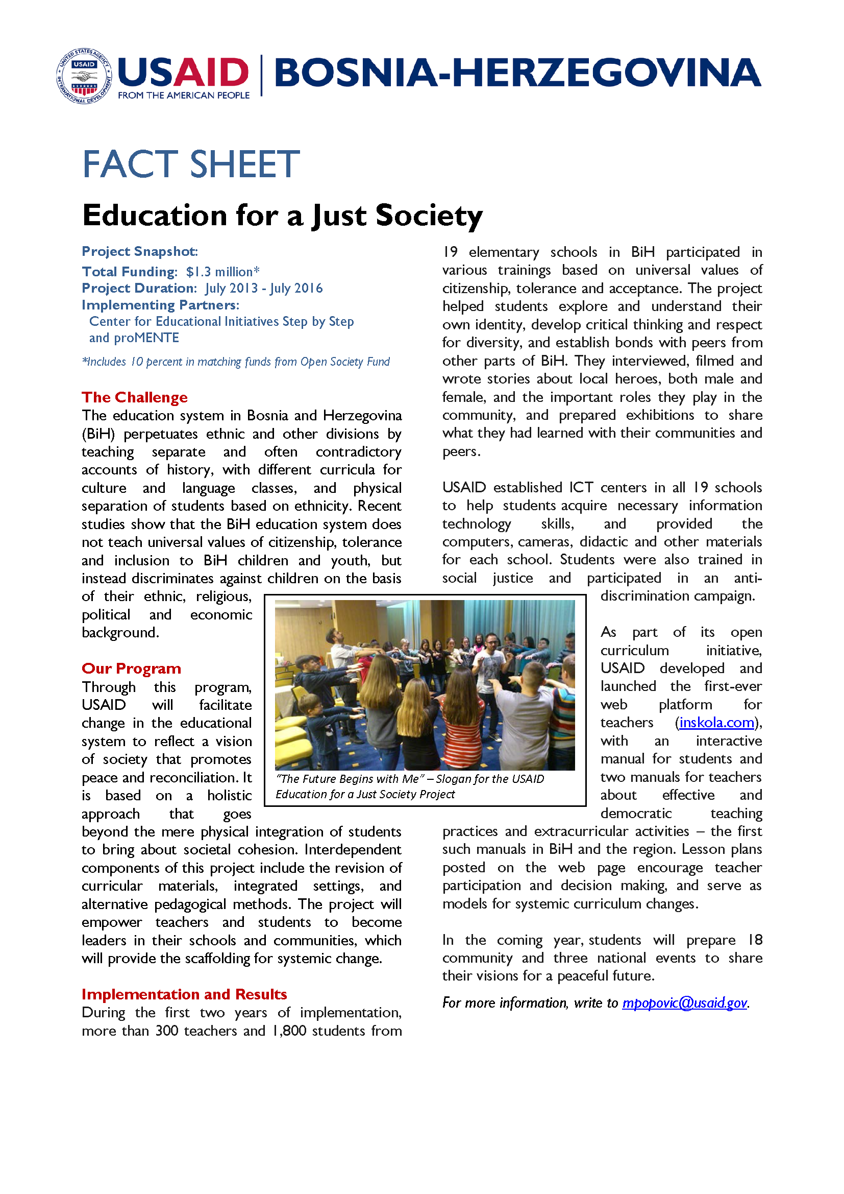 Education for a Just Society
