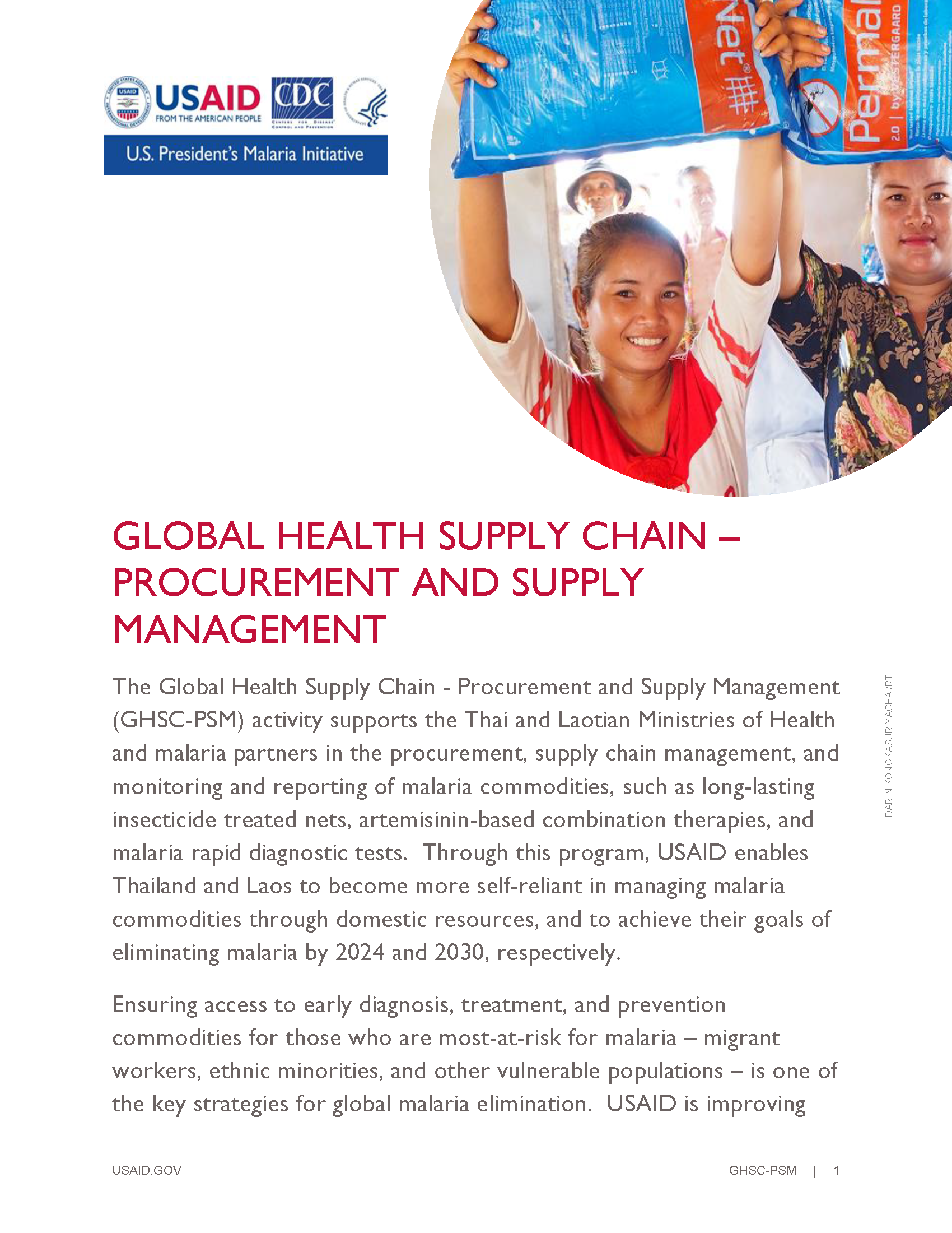 The Global Health Supply Chain - Procurement and Supply Management Fact Sheet