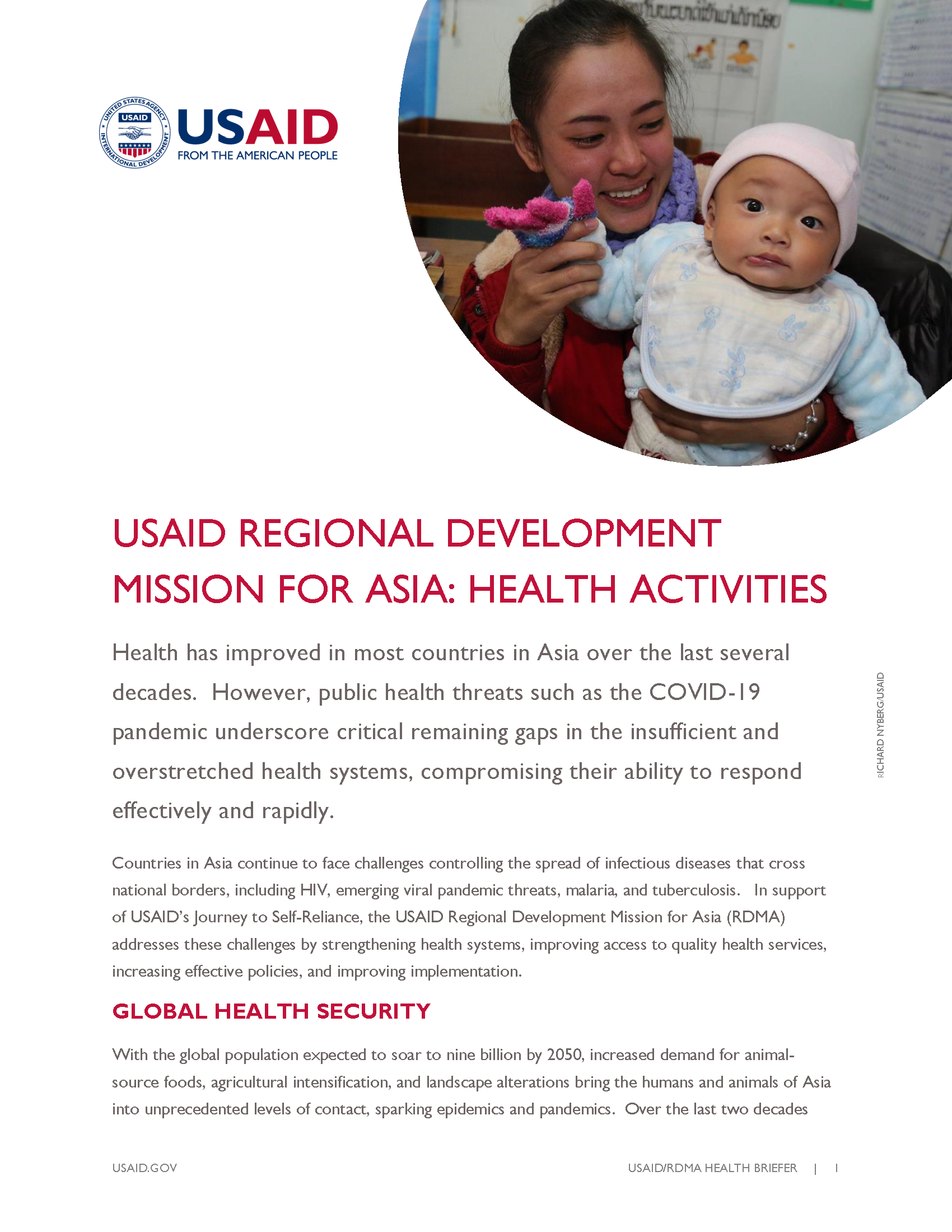 USAID Regional Development Mission for Asia: Health Activities Fact Sheet