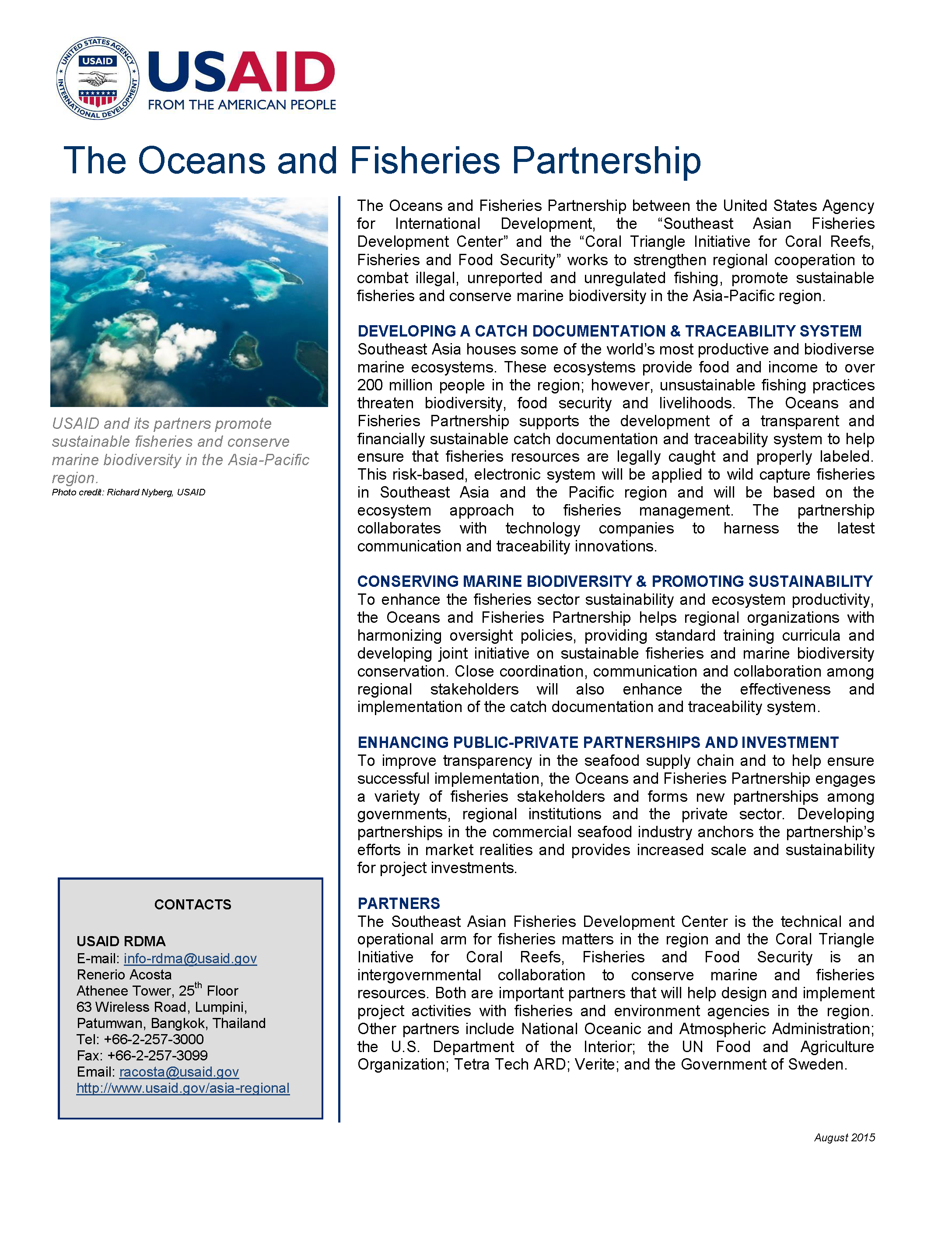 The Oceans and Fisheries Partnership