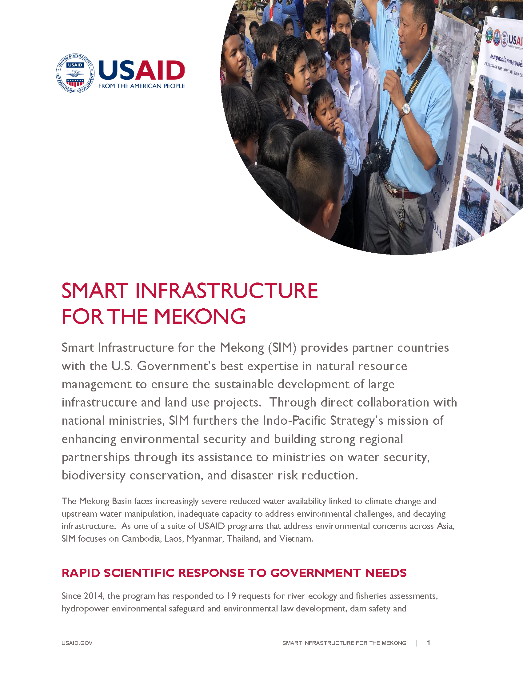 Smart Infrastructure for the Mekong (SIM)