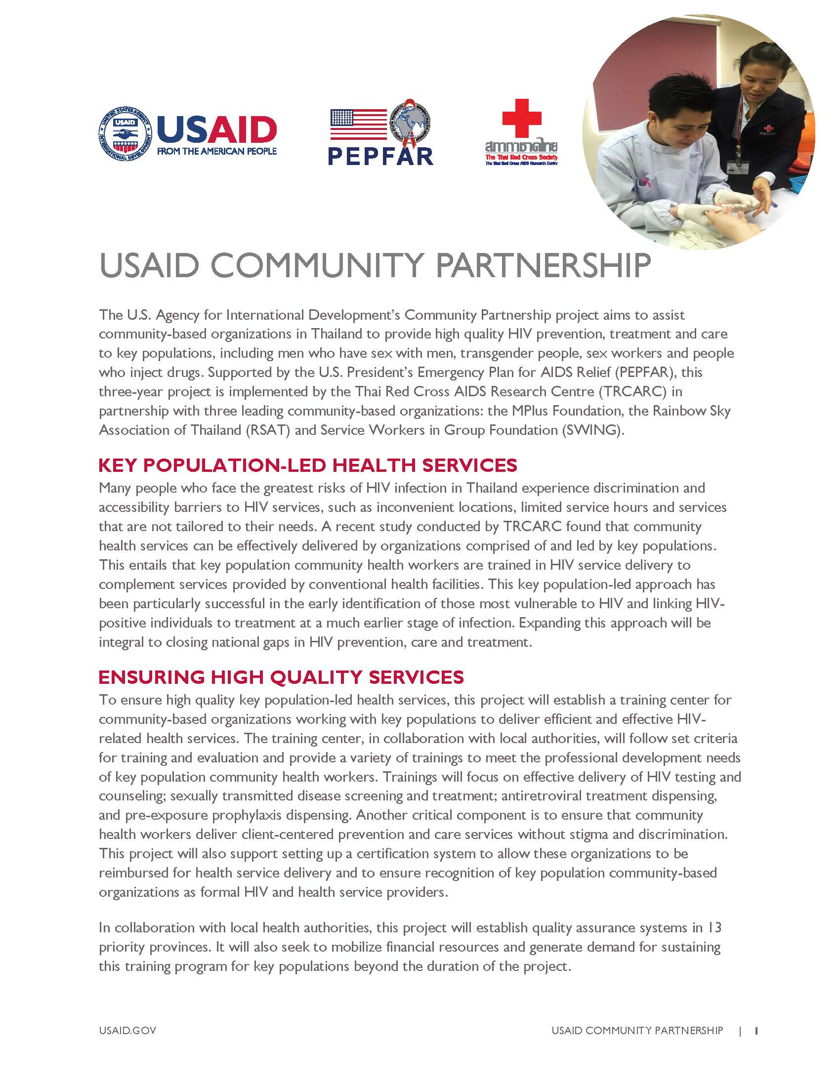 USAID COMMUNITY PARTNERSHIP