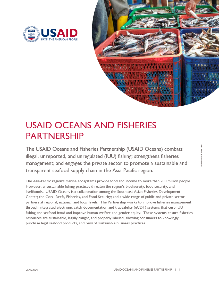 Fact Sheet: USAID Oceans and Fisheries Partnership - May 2020