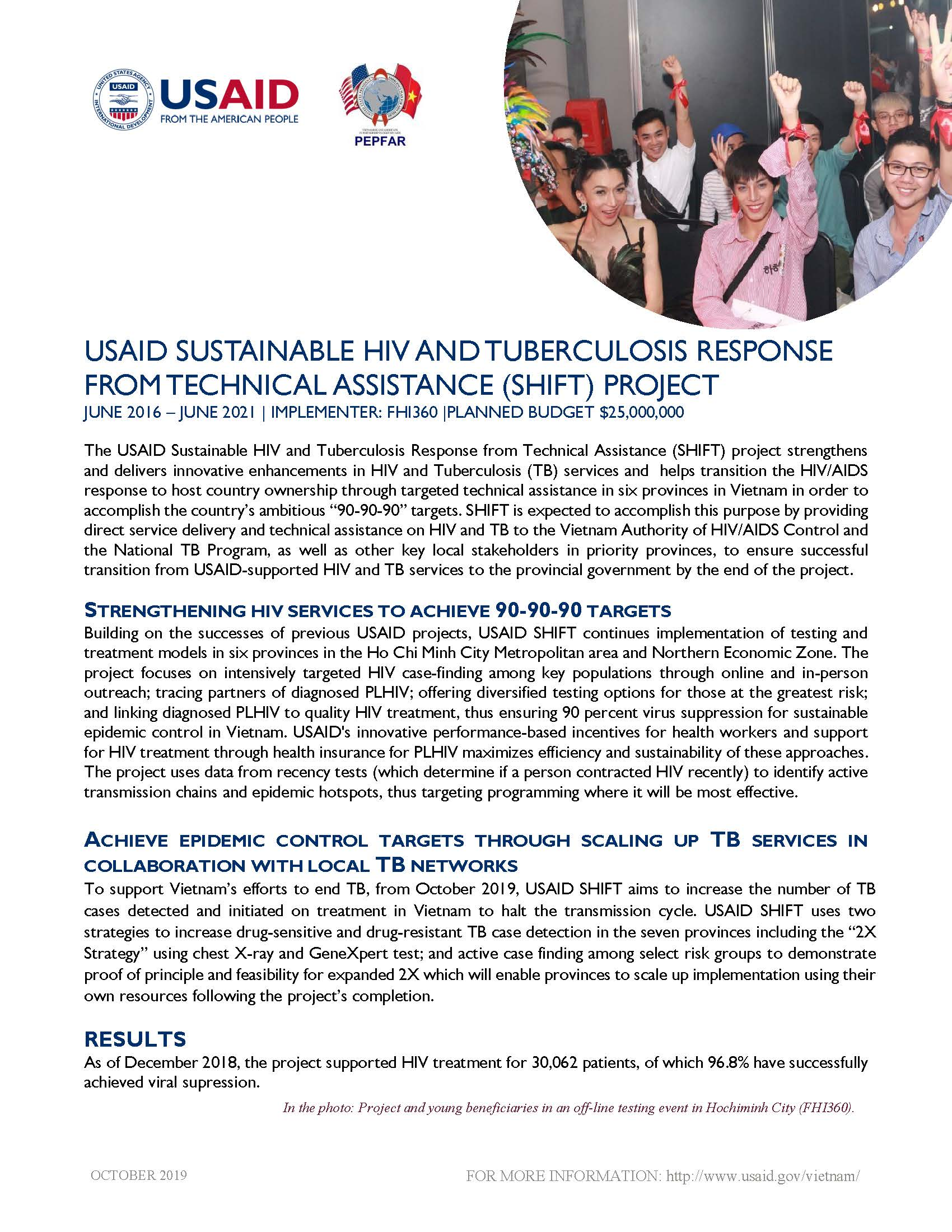 USAID Sustainable HIV and Tuberculosis Response from Technical Assistance (SHIFT) project