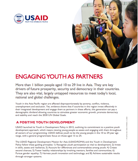 Engaging Youth as Partners Fact Sheet
