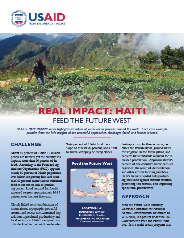 Real Impact: Haiti - Feed the Future West