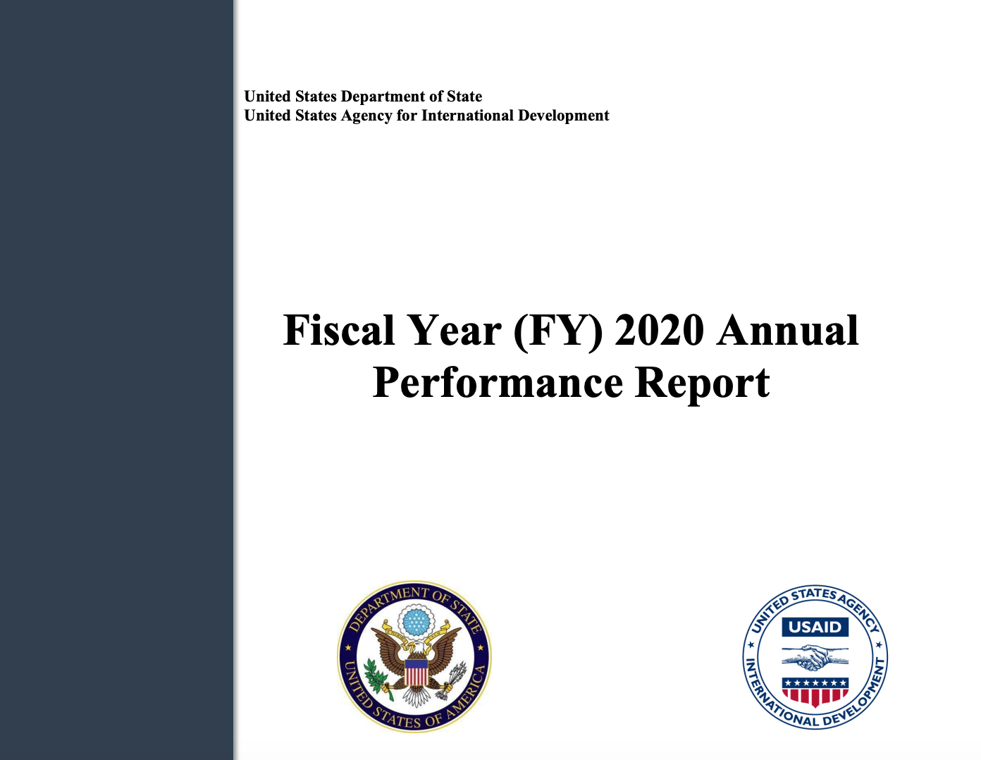 Fiscal Year 2020 Annual Performance Report