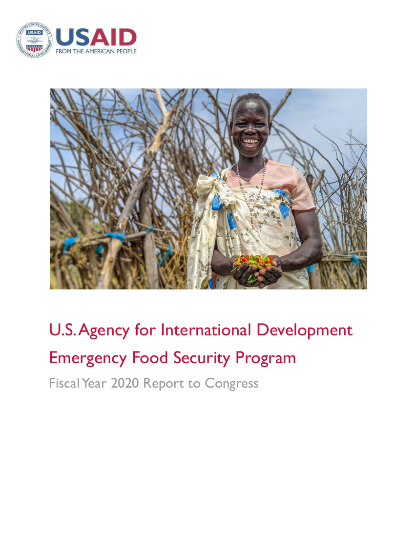 Emergency Food Security Program FY2020 Report