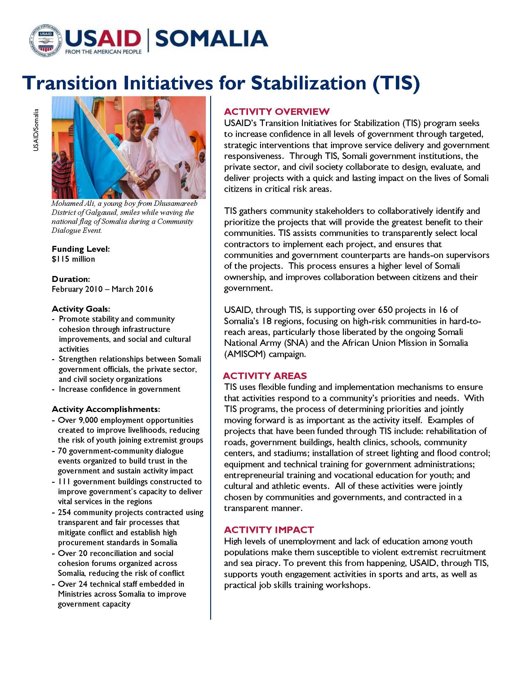 transition initiatives for stabilization tis so a u s transition initiatives for stabilization tis so a