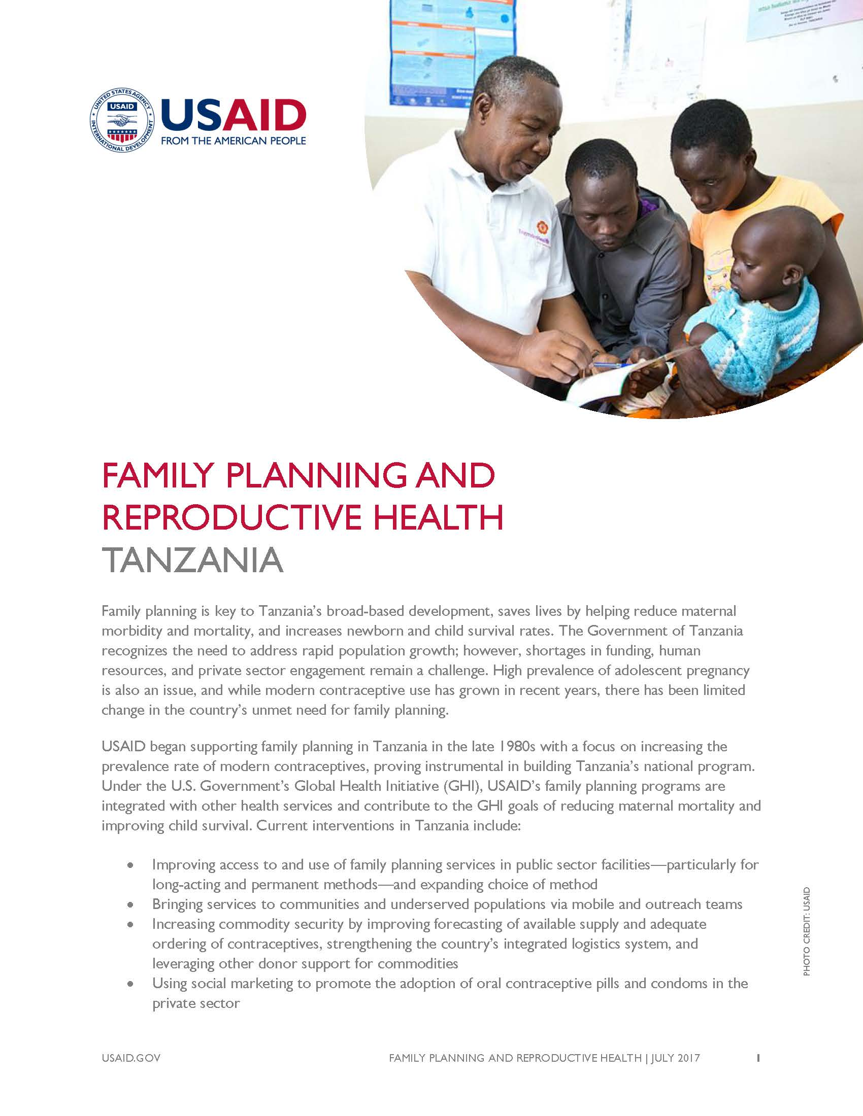 2018 Family Planning Fact Sheet