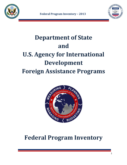 Program Inventory for Foreign Assistance