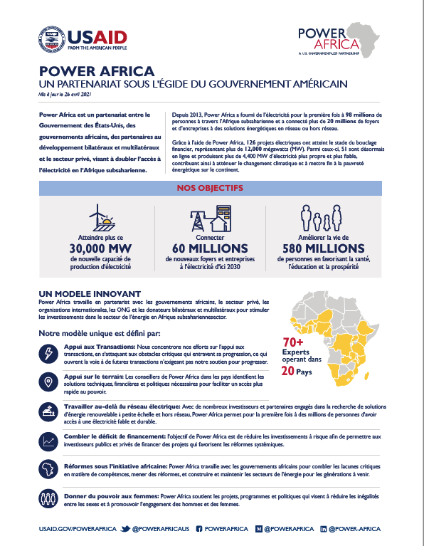French Power Africa Fact Sheet