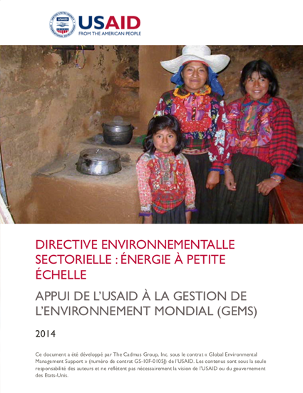 Sector Environmental Guideline: Energy (2014 - French)