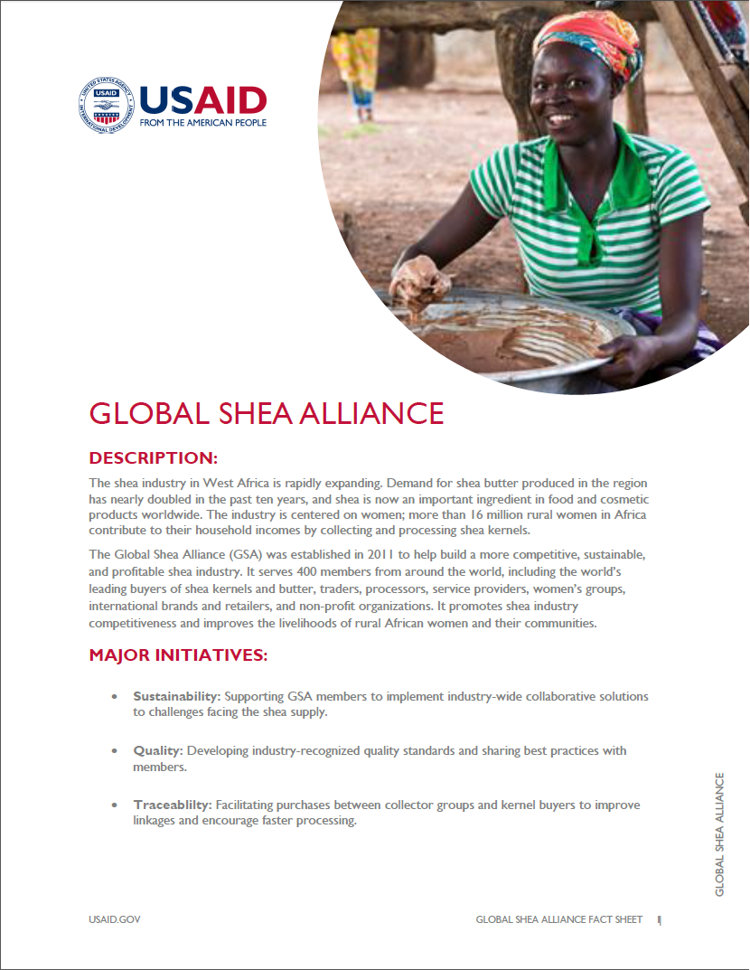 Fact Sheet on Global Shea Alliance