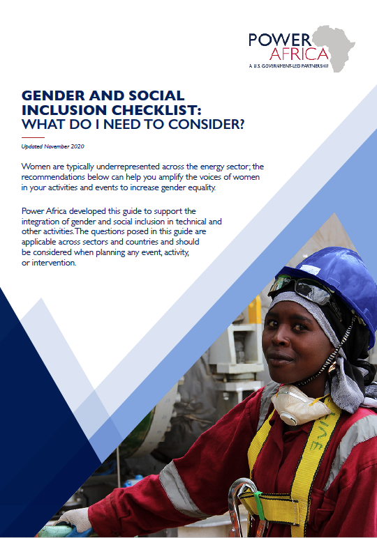 Power Africa: Gender & Social Inclusion Checklist