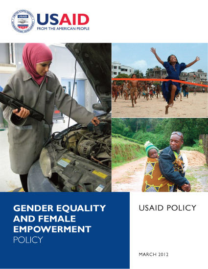 USAID Policy on Gender Equality and Female Empowerment