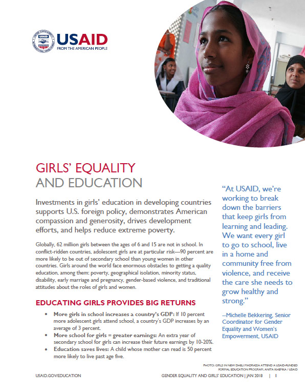 Girls' Equality and Education Fact Sheet