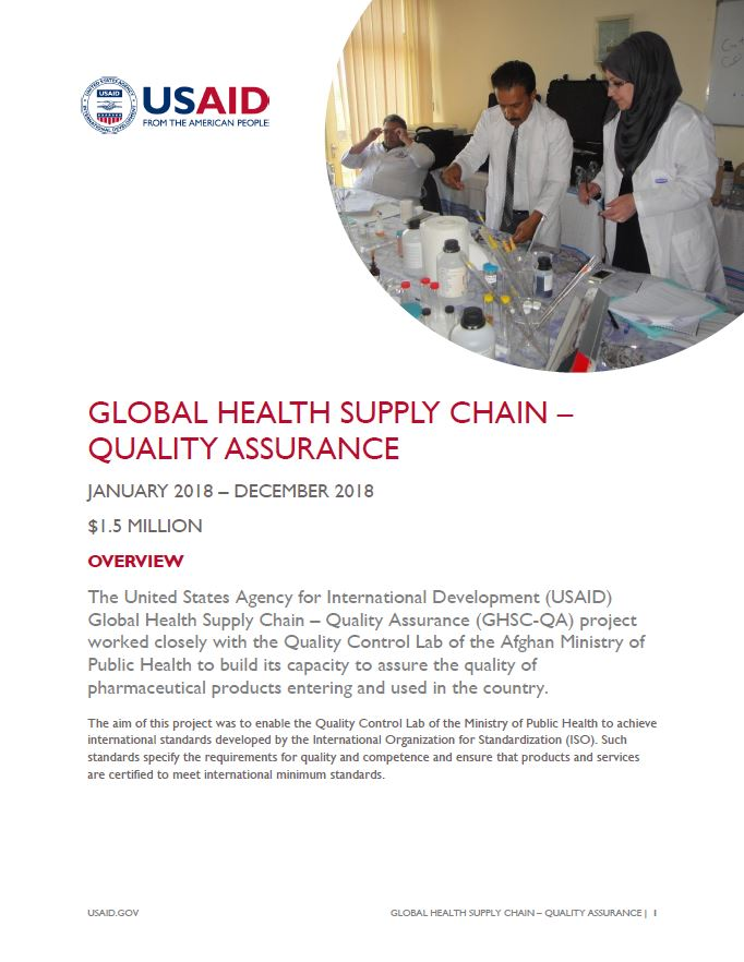 Global Health Supply Chain – Quality Assurance