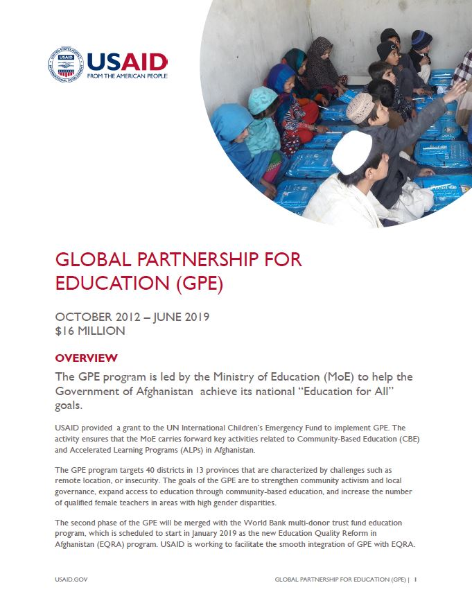 Global Partnership for Education (GPE)